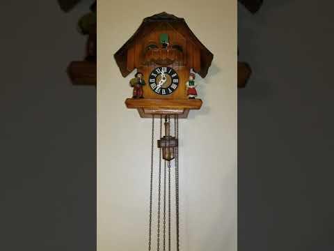 Vintage German Musical Cuckoo Clock Working