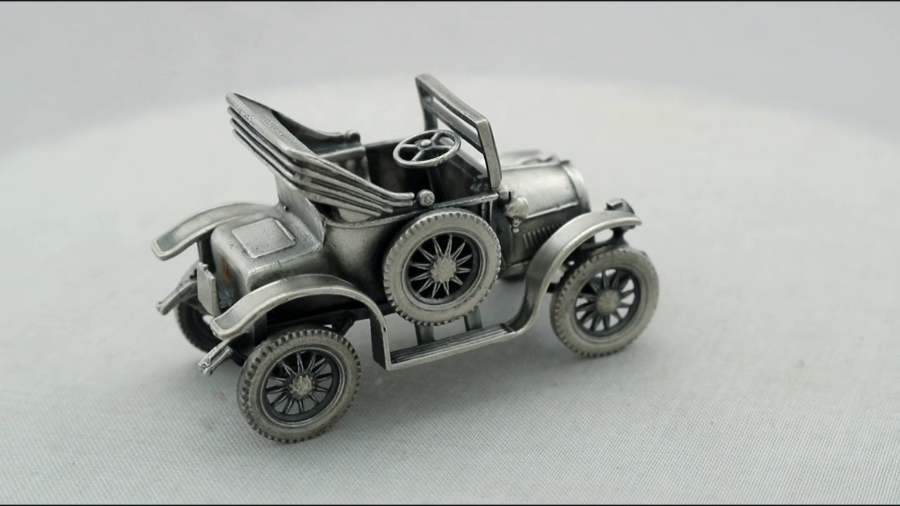 Italian Sterling Silver Car Models / Table Ornaments - Vintage ...