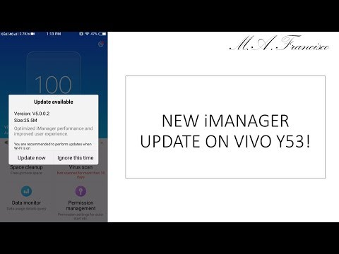 Vivo Y53: New iManager Update! - YouTube