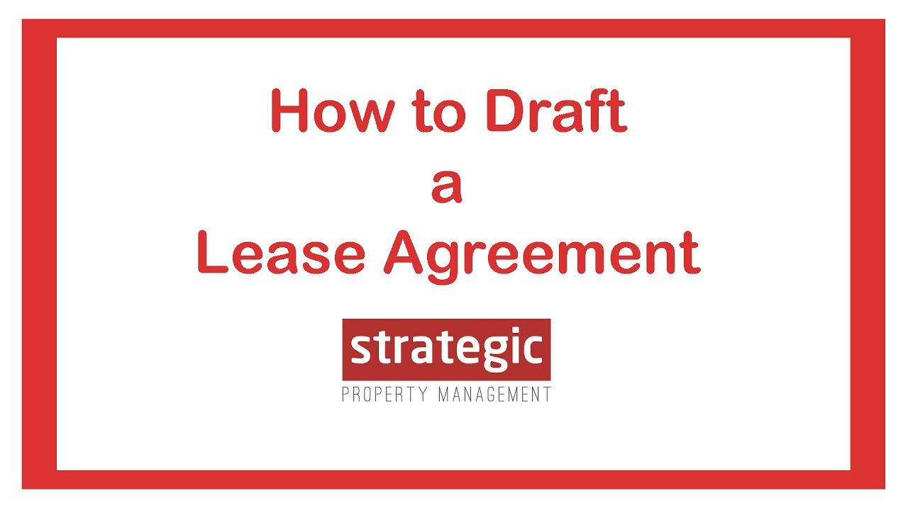 How To Draft A Lease Agreement Youtube