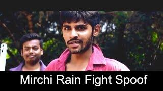 Mirchi Movie Powerful Rain Fight Scene Spoof    By Thiru     Gsspk Creations