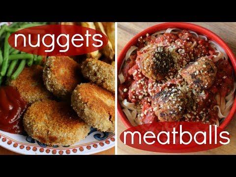 Chicken-less Nuggets & Meatballs // Easy TVP Recipes (vegan)