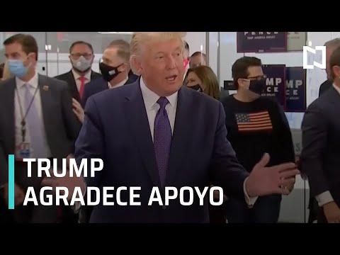 Donald Trump agradece apoyo durante campaña electoral - Las Noticias