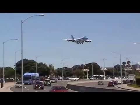 Air Force One Lands at LAX