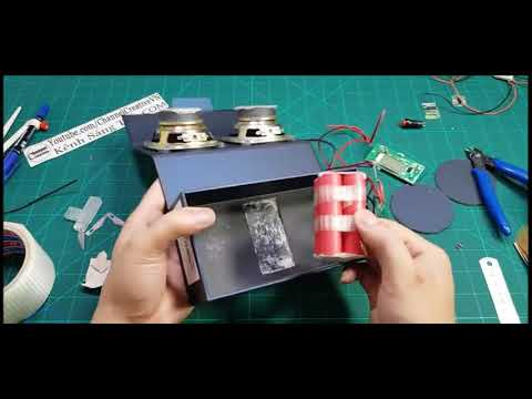 Diy 2in1 power bank and speakers in mobile box