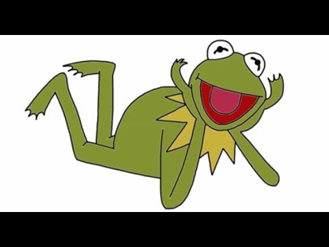 How To Draw Kermit The Frog From The Muppets Movie In Full  YouTube