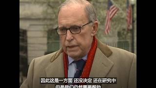 白宫经济顾问库德洛:考虑鼓励疫情较轻的地方复工
