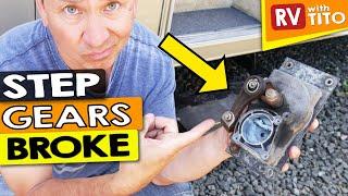 EASY RV STEP REPAIR - DIY Gear Linkage Replacement