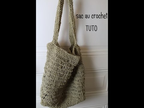 Sac au crochet en ficelle de chanvre / Bag hemp string hook/ Borsa gancio stringa