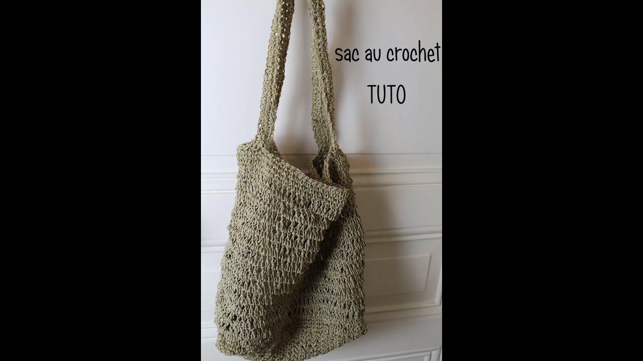 sac au crochet en ficelle de chanvre bag hemp string hook borsa gancio stringa youtube. Black Bedroom Furniture Sets. Home Design Ideas