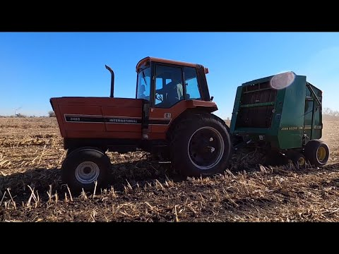 Finishing Up Corn Stalks - Putting The Loader Back On The TM-125 & Getting A New Farm Light!
