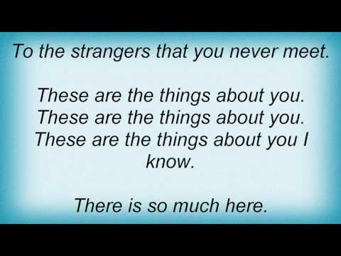 Ivy - These Are The Things About You Lyrics