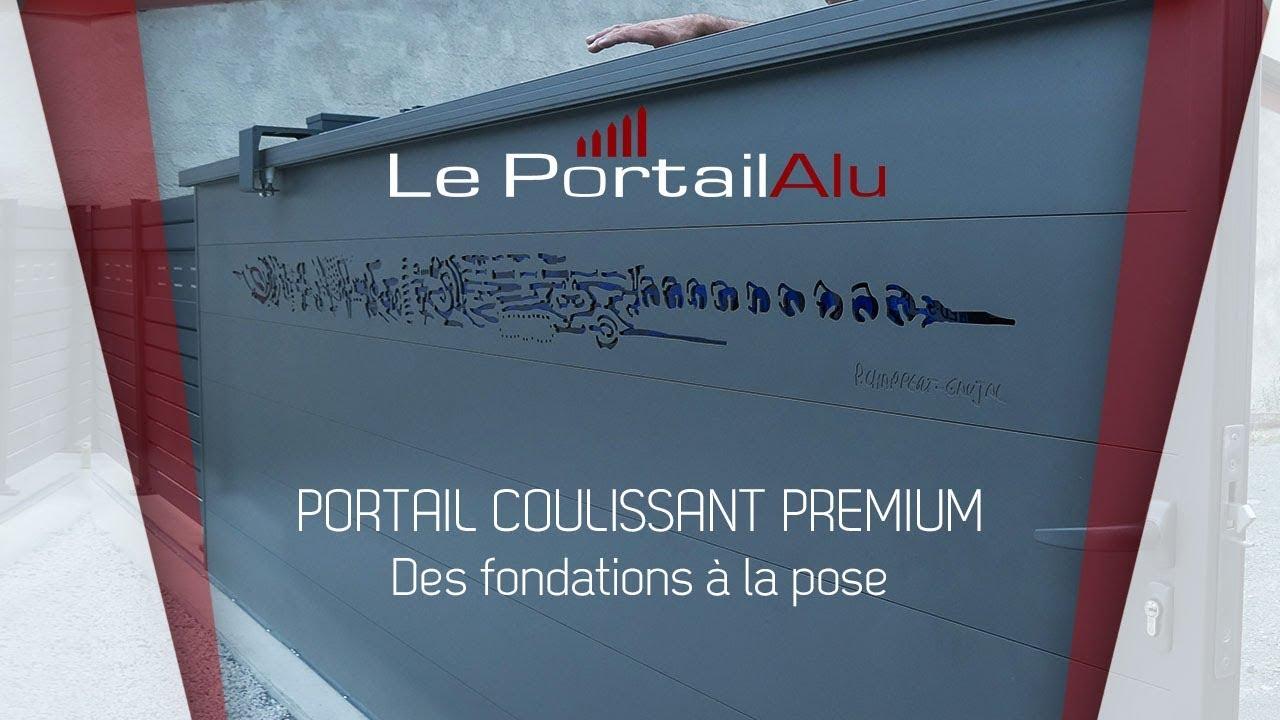 Tutoriel Portail Coulissant Avec Poteaux Alu Des Fondations Beton A
