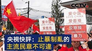 央视快评:止暴制乱的主流民意不可违 | CCTV