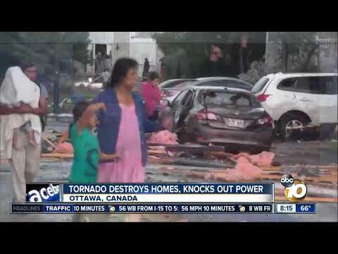 Tornado destroys homes, knocks out power in Ottawa, Canada
