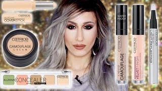cATRICE CONCEALERS REVIEWS //  6 Different Formulas w/ Demos!