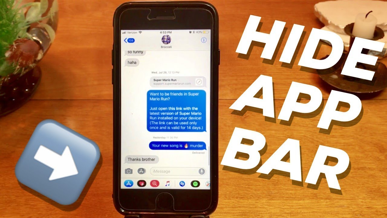 Hide iMessage App Bar on iPhone iOS 12! HOW TO TUTORIAL GUIDE!