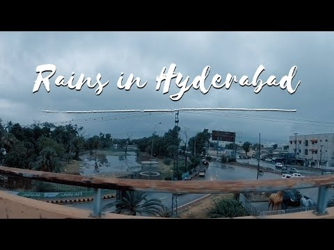 Heavy Rains in Hyderabad today ... | vlog !!!