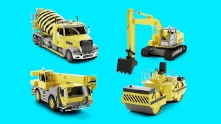 Kid's 3D Construction Cartoon : Trucks Compilation I Learning Construction Vehicles for Kids