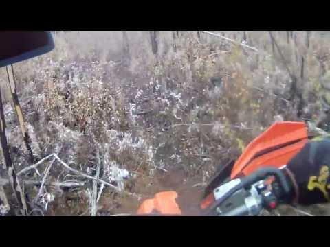 Alaska Pipeline single track dirt bike trail, KTM