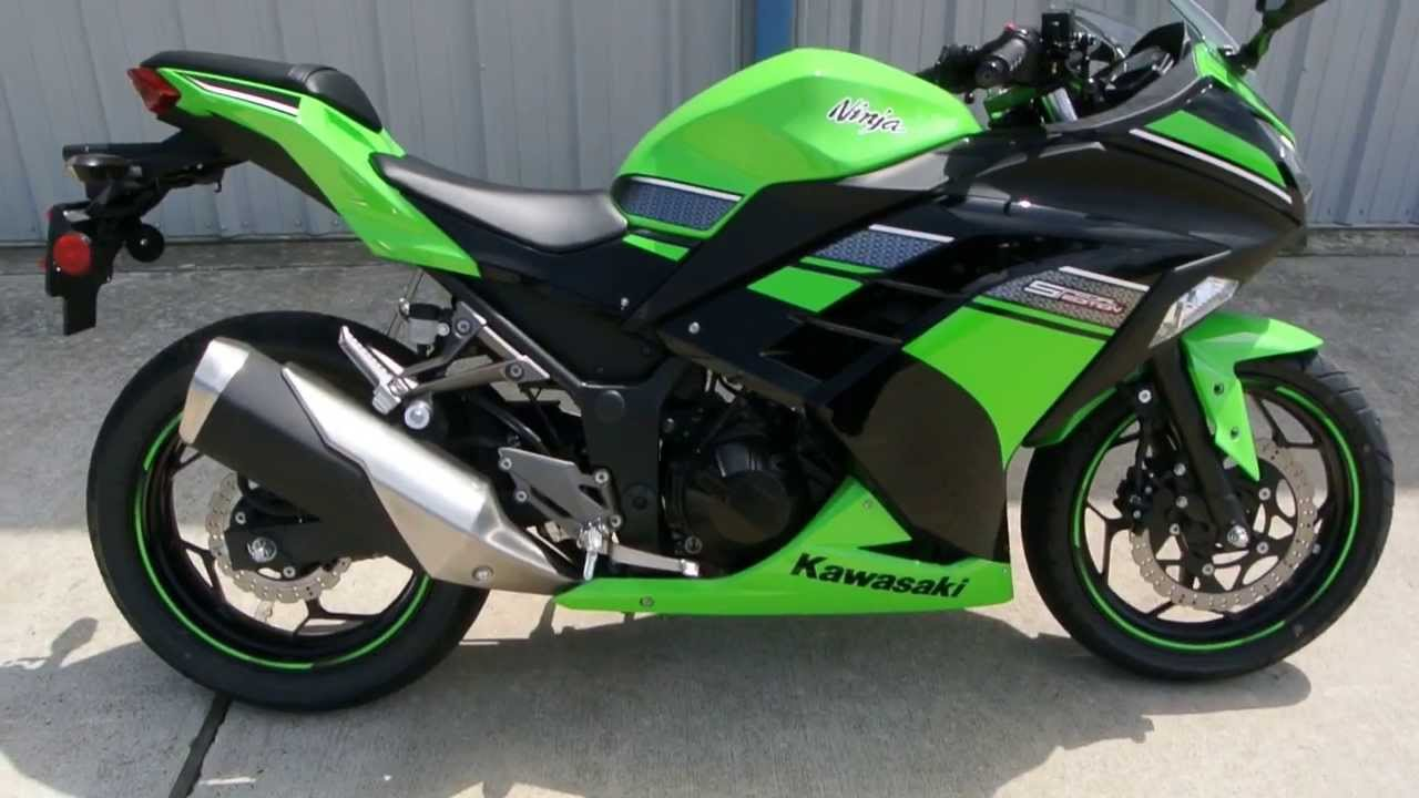 Pre Owned 2013 Kawasaki Ninja 300 Lime Green Special Edition  YouTube