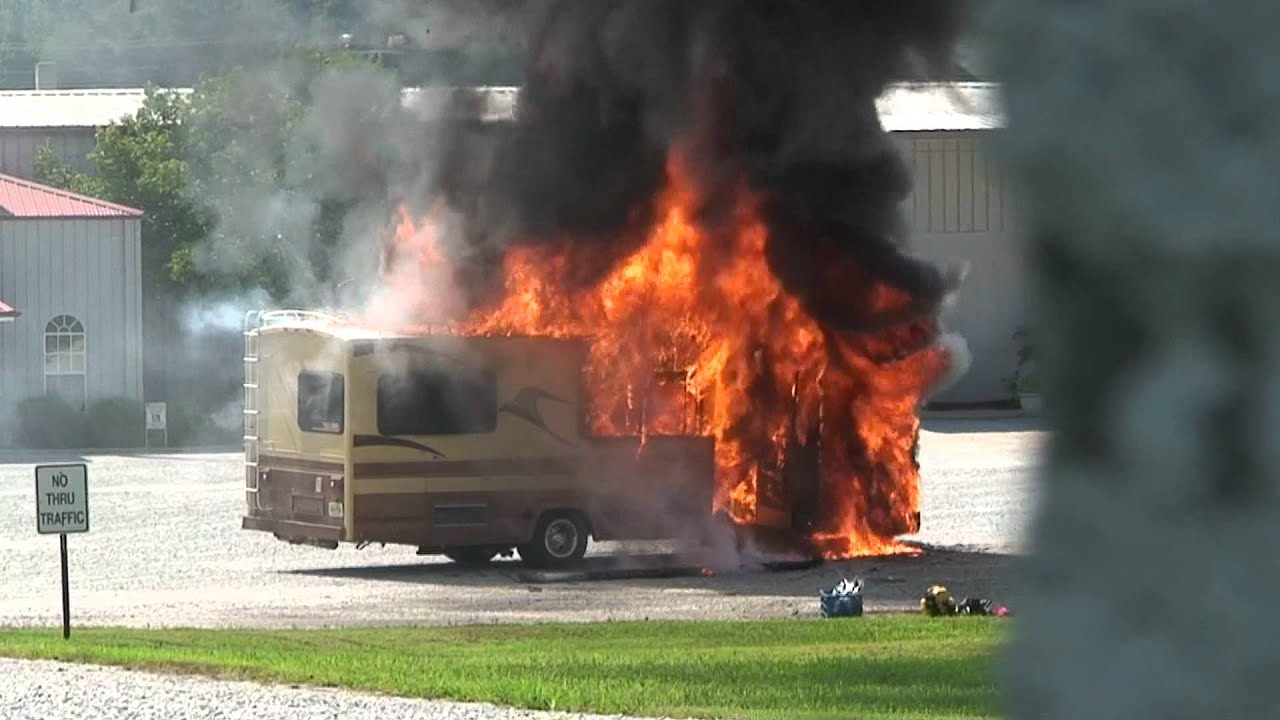 RV fire during vacation  YouTube