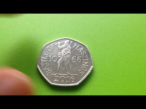 Battle of Hastings 50 pence coin