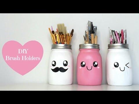Easy DIY Cute Brush Holders