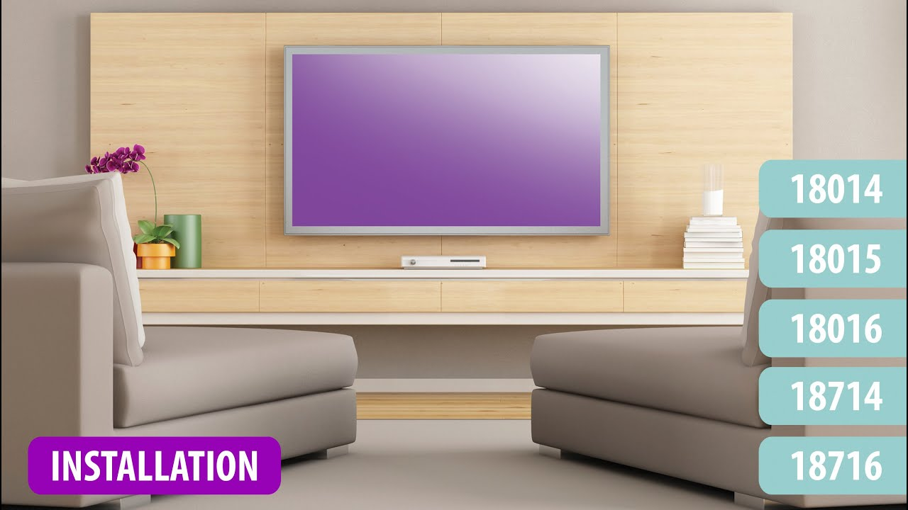 Ultra Slim Fixed TV Wall Mount Installation - YouTube