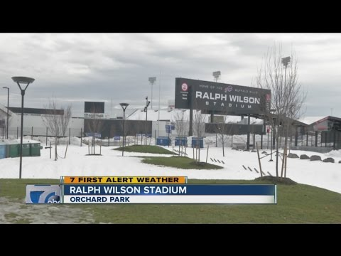 Clean up continues at Ralph Wilson Stadium