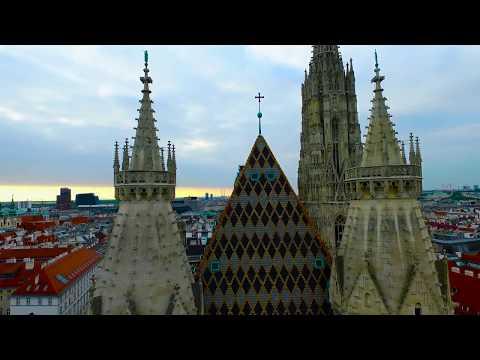 Vienna Wiedeń  drone footage Hofburg & Schonbrunn Palace Albertina Cathedral of Sts  Stephen Opera