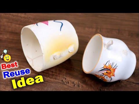 DIY Flower Vase Making using Mug || Home Decoration Ideas