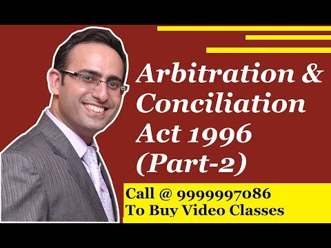 Arbitration & Conciliation Act -(Grounds of Setting aside of Arbitral award)