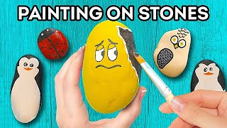 Creative Paintings On Stones || Funny Hand Drawings That Will Make You Smile!