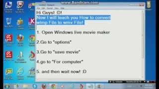 How To Convert wlmp File To wmv File