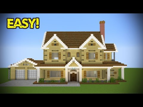 Minecraft: Large Suburban House Tutorial