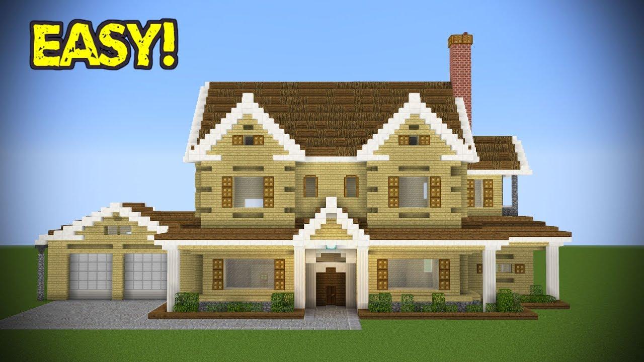 Minecraft Large Suburban House Tutorial Youtube
