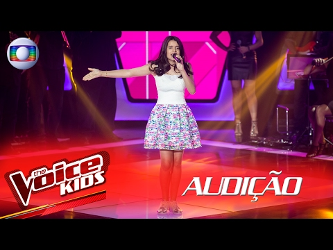 Gabi Morato canta 'Hollywood' na Audição – The Voice Kids Brasil | 2ª Temporada