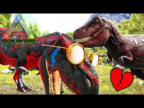 LA TRISTE HISTORIA DE AMOR DE UN TIRANOSAURIO REX! DINOSAURIO REY DE LA ISLA EN Soy Un Dinosaurio!
