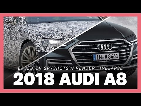 this is the 2018 AUDI A8 based on spy image (photoshop render timelapse preview)