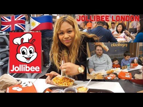 BRITISH HUSBAND TRY JOLLIBEE   JOLLIBEE LONDON UK 🇬🇧