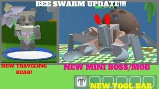 NEW UPDATE MINI BOSS ITEMS BEE QUESTS BEAR - BEE SWARM SIMULATOR (ROBLOX)