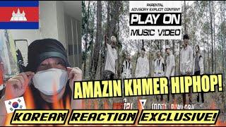 Korean Hiphop Junkie react to KmengKhmer - PLAY ON X POLARIX X វណ្ណដា X ពន្លក (ENG SUB)