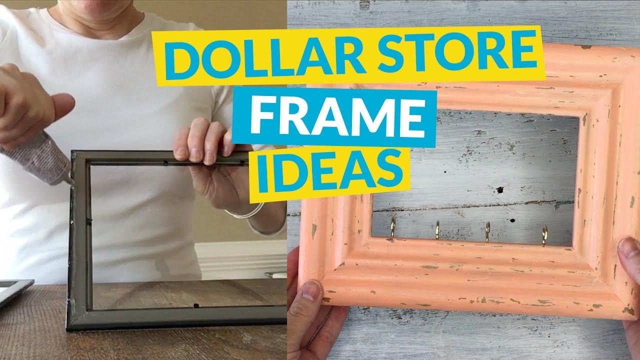 5 Dollar Store Frame Ideas - YouTube