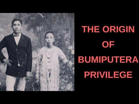 MALAYSIA BUMIPUTERA PRIVILEGE: A history lesson