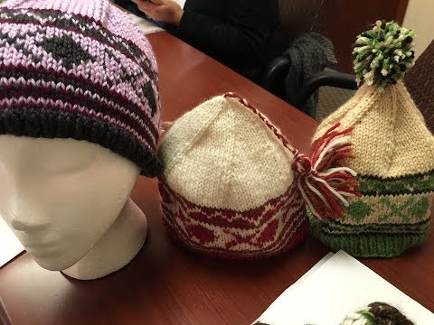 KnitOasis knitting group shows off patterns!