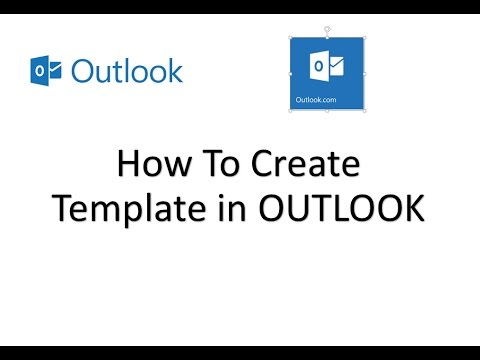 how to create a custom email template in outlook - YouTube