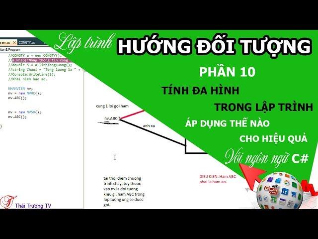 ✅Lập trình Hướng đối tượng P10 | Tính đa hình trong lập trình | Thái Trương TV✍
