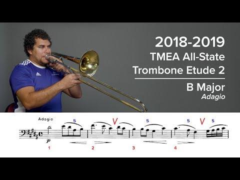 2018-2019 TMEA All-State Trombone Etude 2 - Voxman Pg. 50, Adagio