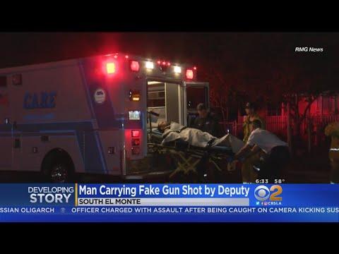 Man With Fake Gun Shot By Sheriff's Deputy In South El Monte